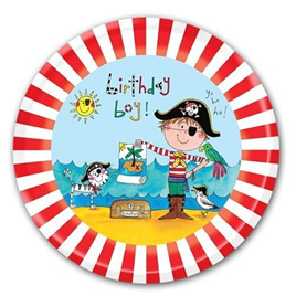 Pirate - Birthday Boy Party Plates