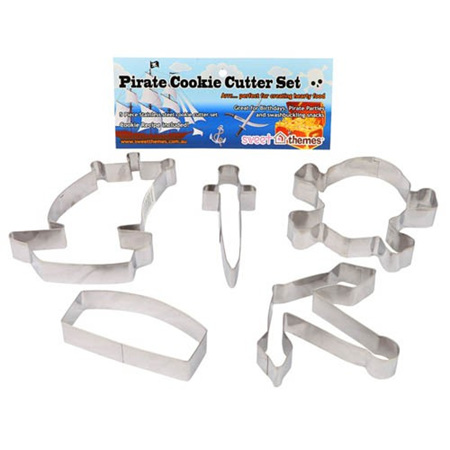 Pirate Cookie Cutters x 5