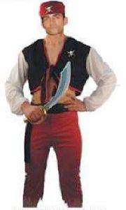 Pirate Costume - Adults 4 piece set