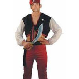 Pirate Costume - Adults 4 piece set