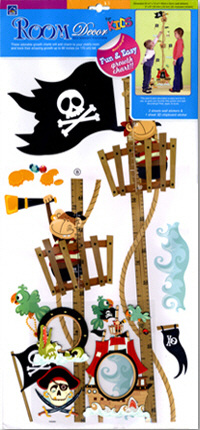 Pirate Growth Chart Wall Decal