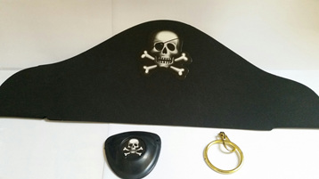 Pirate Hat, Eyepatch and Earring