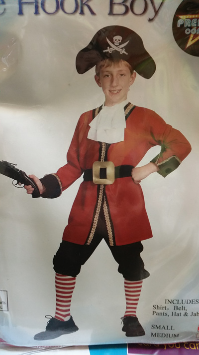 Pirate Hook Costume - Size Small Child