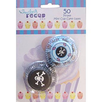 Pirate mini cupcake cases - 50