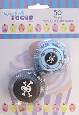Pirate mini cupcake cases - 50