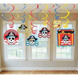 Pirate Party - Hanging Swirls - pack of 12