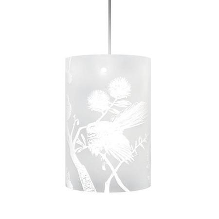 Piwakawaka, Fantail Light Shade - White Silhouette