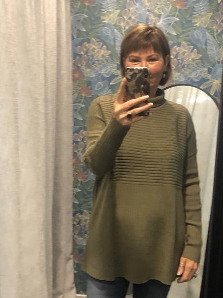 PJ Jeans Rib Polo Neck Sweater - Khaki