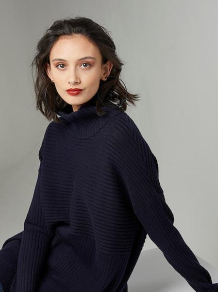 PJ Jeans Rib Polo Neck Sweater - Navy