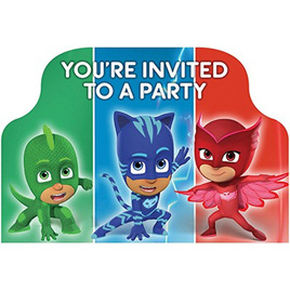 PJ Masks invitesx8