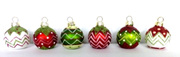 Placecard holders - coloured baubles