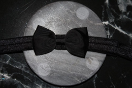 PLAIN BABY/TODDLER HAIRBAND - BLACK