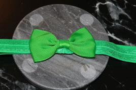 PLAIN BABY/TODDLER HAIRBAND - EMERALD GREEN