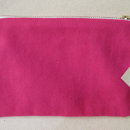 Plain Pink Cosmetic Purse - Medium
