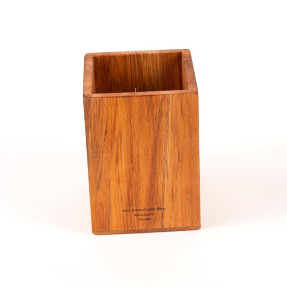 plain rimu utensil pot - made in New zealand