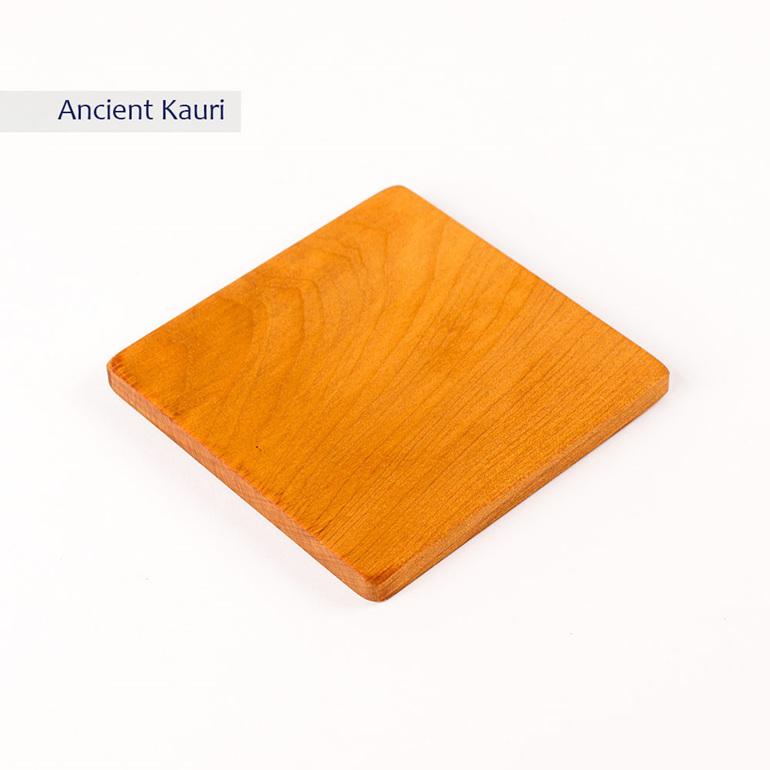plain square coaster - ancient kauri