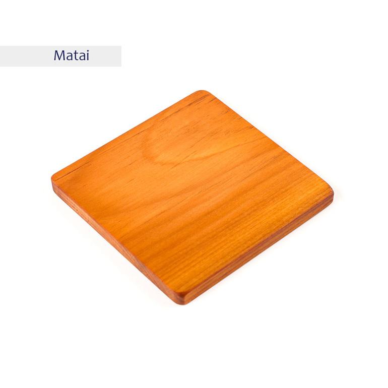 plain square coaster - matai