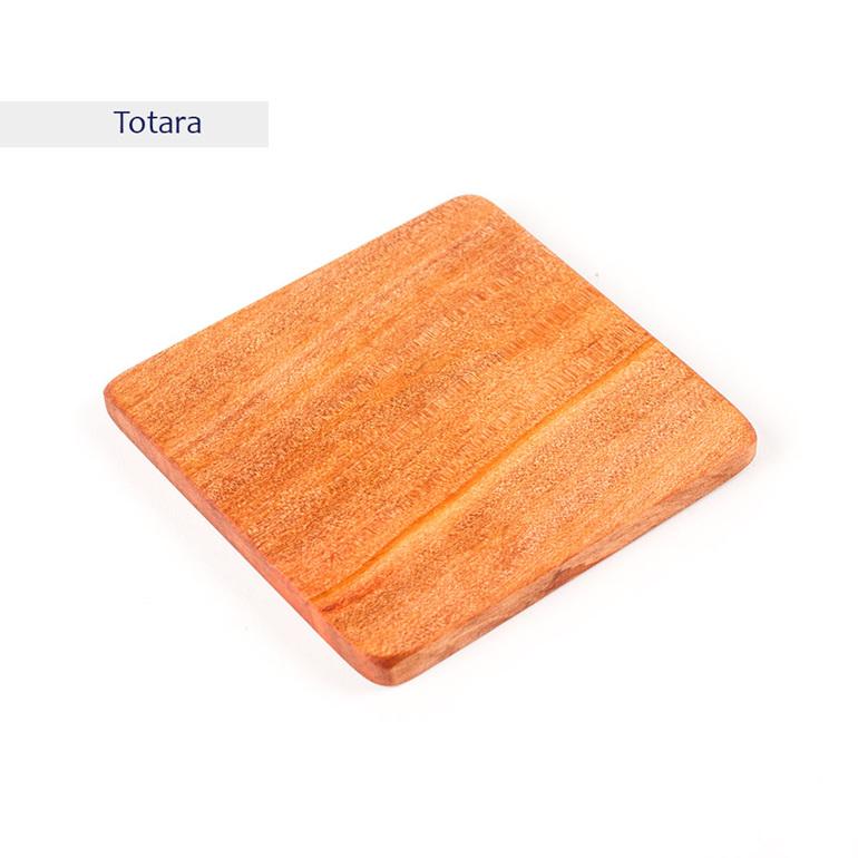 plain square coaster - totara