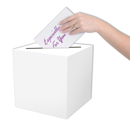 Plain white receiving box