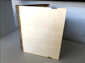 Plain Wooden Book Box