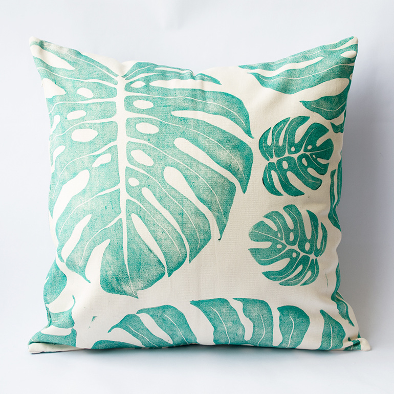 Plant. Green. Delicious Monster. Cushion. Living. Decor. South African Designed.