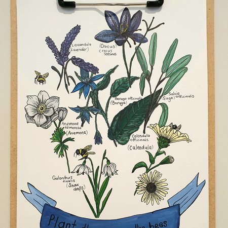 Plant these, save the bees - Greeting Card