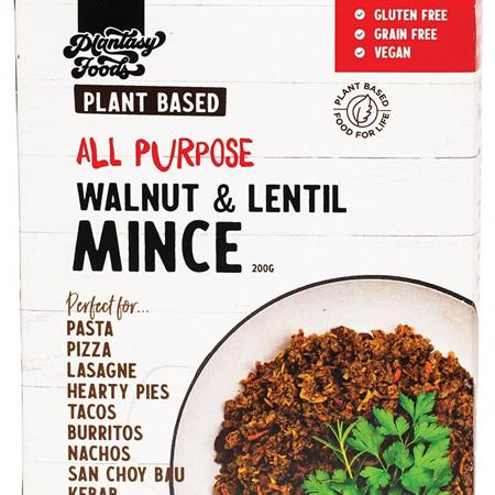 Plantasy Foods Mince Walnut & Lentil 200g