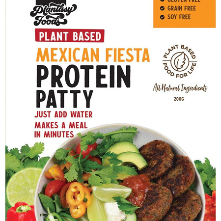 Plantasy Foods Protein Patty Mexican Fiesta 200g