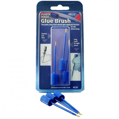 Plastic magic glue brush