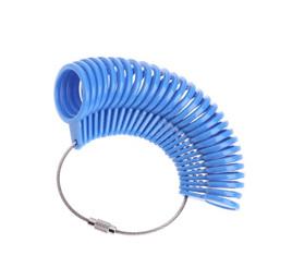 Plastic Measurement Finger Ring Sizer Tool *Blue*