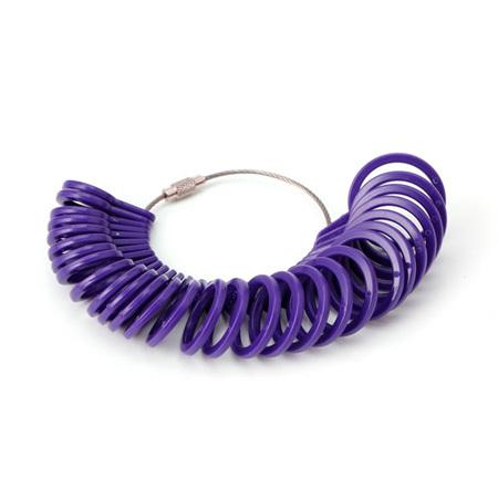Plastic Measurement Finger Ring Sizer Tool *Purple*