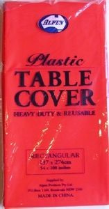 Plastic Table Cover - Christmas - 3 colours to choose from
