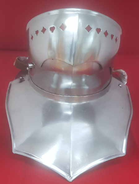 Plate 20 - 15th Century Steel Gorget with Falling Buff Bevor and Back Plate