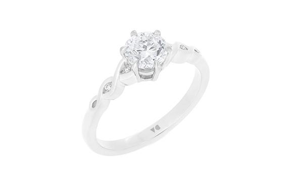 Platinum 18ct White Gold Unique Filigree NZ Diamond Solitaire Engagement ring