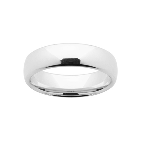Platinum Mens Comfort Curve Wedding Ring