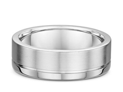 Mens Grooved Wedding Ring