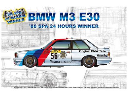 Platz/Nunu 1/24 BMW M3 E30 Group A 1988 Spa 24 Hours Winner (PN24017)