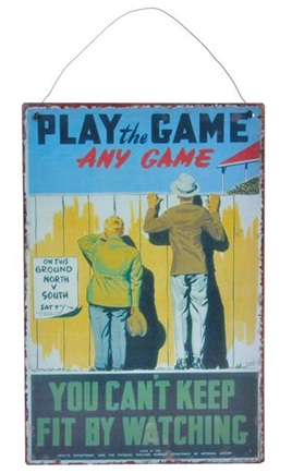 Play the Game - Metal Plaque