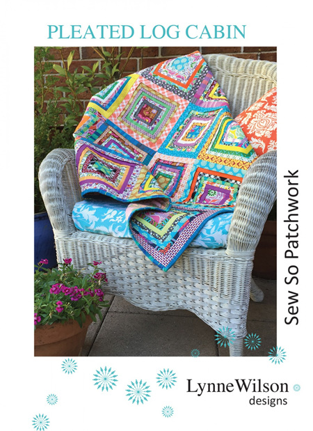 Pleated Log Cabin Quilt Pattern from Louise Wilson Designs