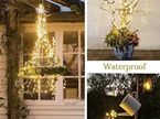 Plug In Seed / Micro LED 10 Branch Lights 200 LEDs - Warm White