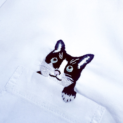pocket cat  shirt