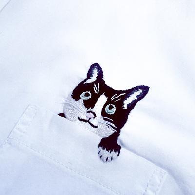pocket cat  shirt