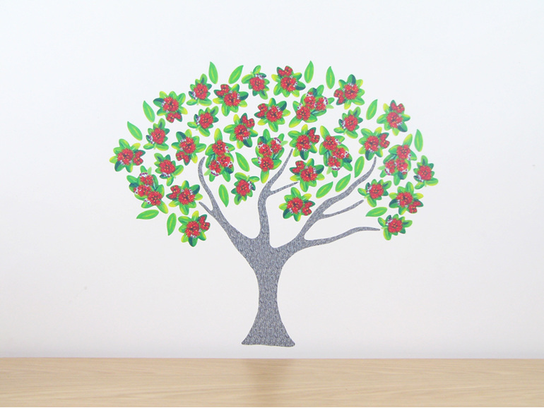 Pohutakawa Tree Decal