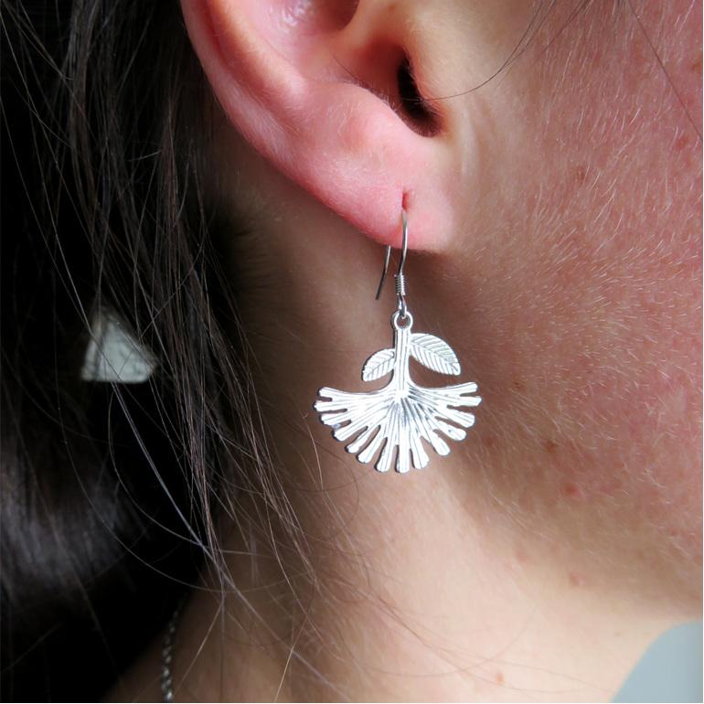 Pohutukawa drop earrings
