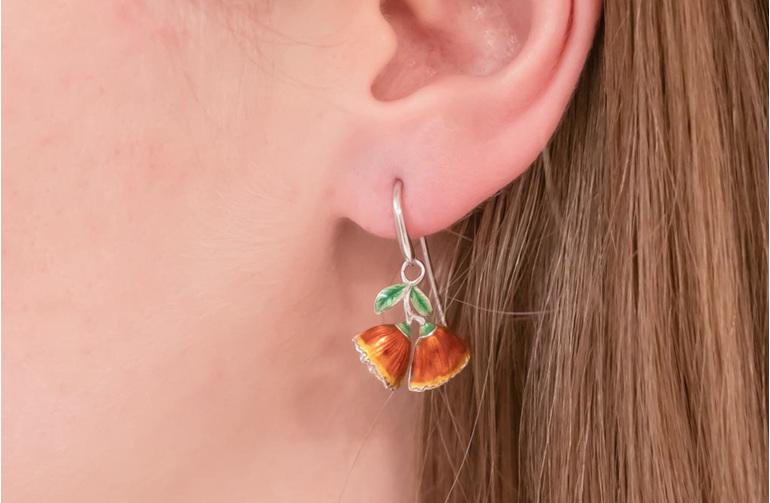 Pohutukawa Flower Earrings