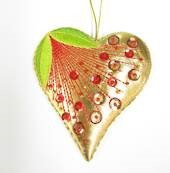 Pohutukawa Heart - Christmas Tree Decoration