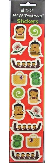 Pohutukawa, Koru, Waka, Kete, Tiki, Hine and Tāne Stickers