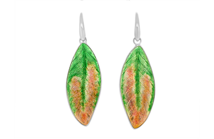 Pohutukawa Leaf Earrings