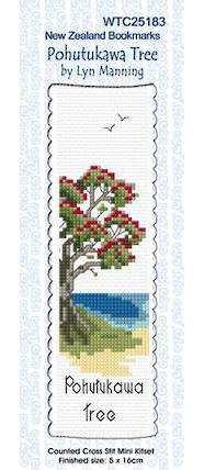 Pohutukawa Tree Bookmark Stitching Kit