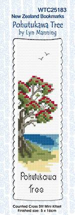 Pohutukawa Tree Bookmark Stitching Kit